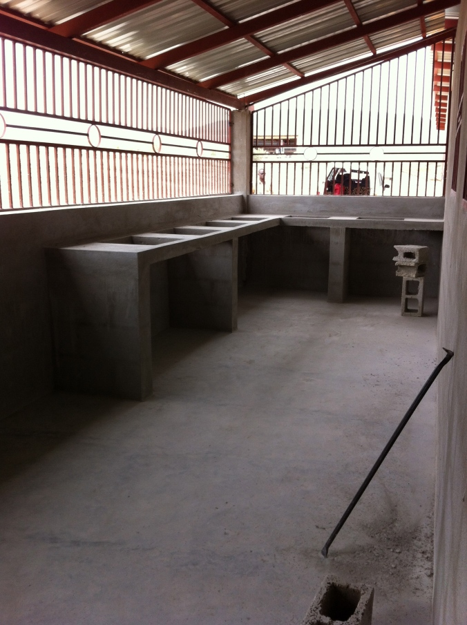 cooking area - the rice is cooked over charcoal