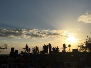 The sunset and worship at our New Years gathering.
