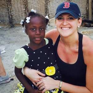 Erica Locke with her sponsor child, Katiana.